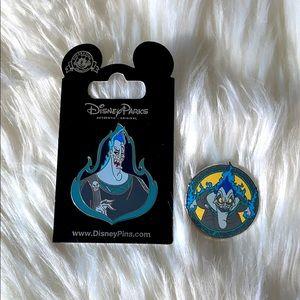 DisneyParks Hades pins - 2 pins of Hades